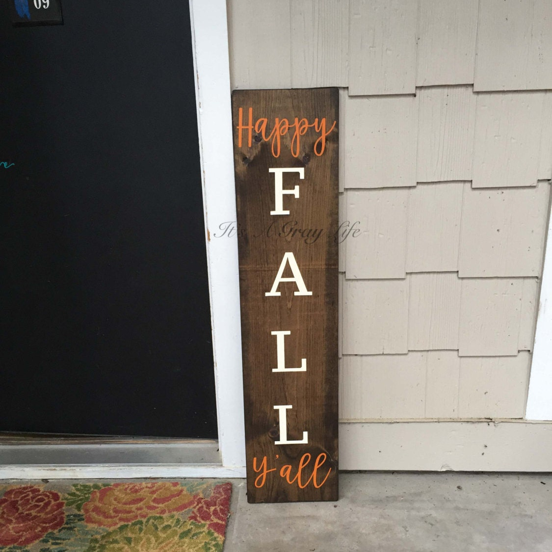 Happy Fall Y All Welcome Sign Front Porch Sign Fall
