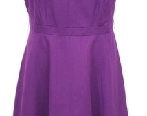 Vintage Dress in Purple Size 12 - Excellent Condition - Free Postage - Reduced International Postage