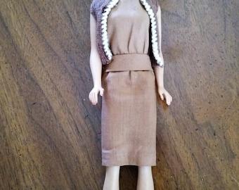Reduced Vintage 1960's Mattel Midge Doll Barbie's Best Friend Barbie Outfit Sorority Meeting