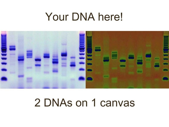 Custom dna canvas metal genetics wall art solar blue by for Personalized dna art
