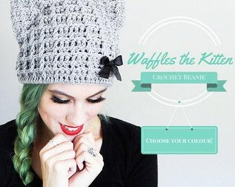Adult Sizes Crochet Cat Hat Cat Beanie