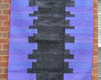 Black and Purple Lap Quilt