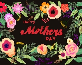Happy Mothers day card Instant download Digital print