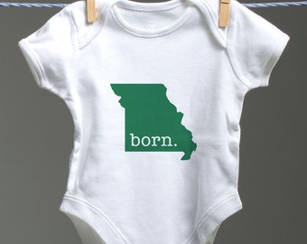 Missouri Onsie, Missouri Baby Bodysuit, Missouri Baby Shower Gift, MO Baby, Missouri Baby