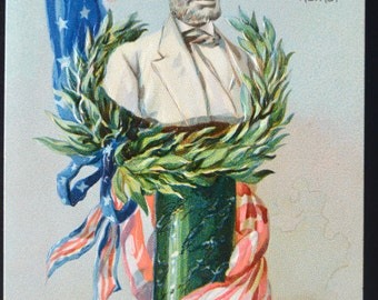 Patriotic Postcard Decoration Day Abraham Lincoln Raphael Tuck