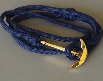 navy blue marine anchor on Paracord Bracelet