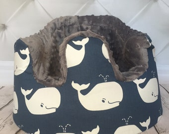 Whales & Charcoal Bumbo Cover