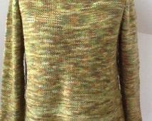 Women's sweater knitting pattern PDF, easy, own design