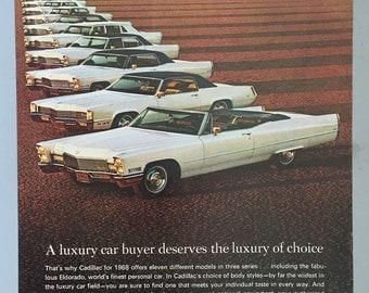 1968 Cadillac Print Ad