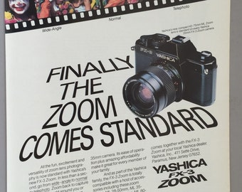 1980 Yashica FX-3 Zoom Camera Print Ad