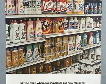 1967 Mobil Oil Print Ad - 1960s Cleaning Products - Old Labels