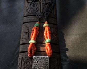 KITAB NECKLACE,Higab talisman,Berber silver,ethnic jewelry,African jewelry,Berber talisman