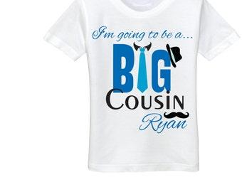 Big cousin announcement shirt big cousin shirt cousin onesie big cousin tshirt Big cousin little cousin gift baby announcement to cousin