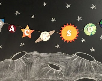 Personalized Outer Space Name Banner, Outer Space Birthday Party, Outer  Space Party, Outer
