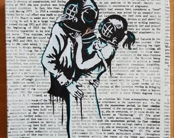 Stencil on Canvas