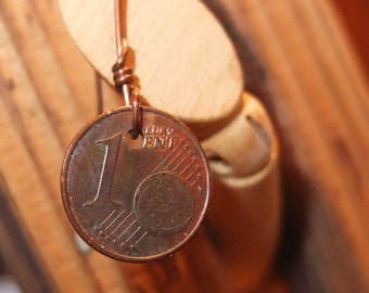 Steampunk earring with coin