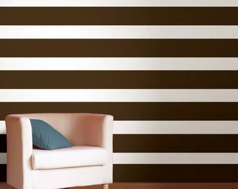 Wall Vinyl Decal Sticker - Wall Stripes - Living room, Nurseries, Bedrooms, Kitchen, Office etc