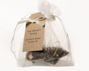 Tea Wedding Favours - White Bags