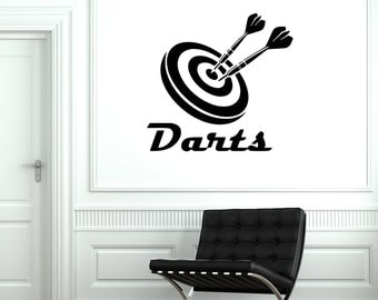 Wall Vinyl Decal Sport Darts Cool Guaranteed Quality Decor 2030di