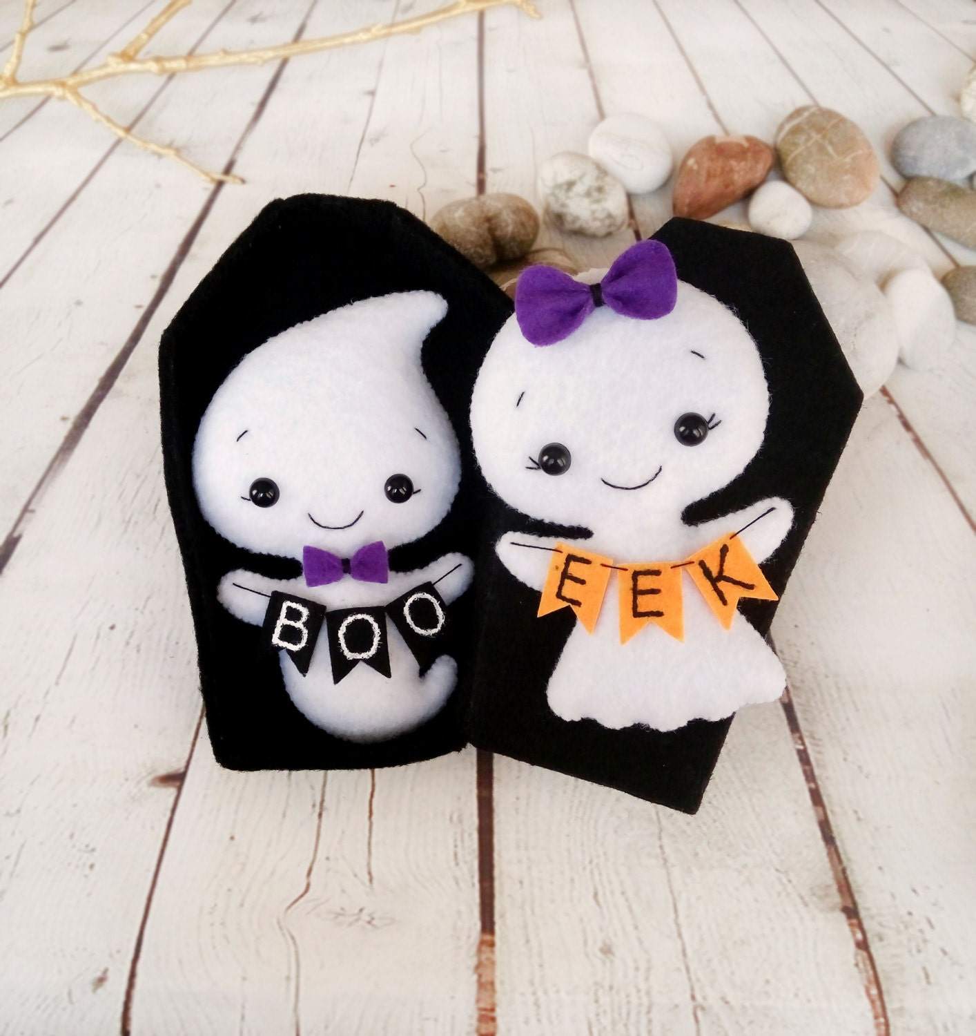 Baby Gifts For Halloween : Halloween decor ghost felt toy gift baby shower