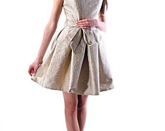 Bridesmaid dress/ Formal dress / beige dress / Golden dress /Bridesmaid Gown / Evening Dress / prom dress