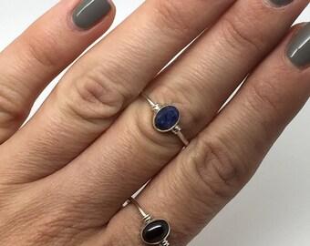 silver ring,garnet ring,sappire ring,silver jewelry,silver stone ring,gemstone ring,delicate ring,boho ring,statement ring,