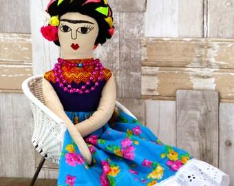 Muñeca tehuana,(3), hecho a mano, estilo oaxaqueño, Mexicana.
