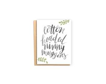 Cotton Headed Ninny Muggins- Christmas Card, Funny Christmas Card, Elf Christmas Card, Buddy the Elf