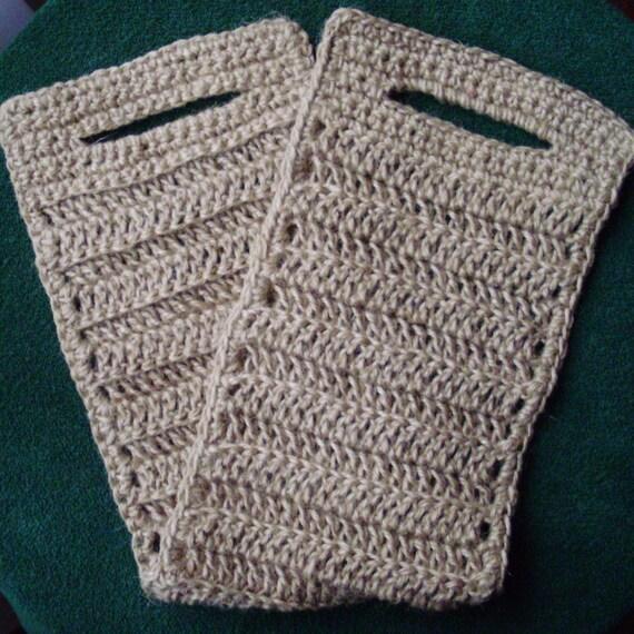 NATURAL HANDMADE long crochet bath/shower SPONGE, 100 % natural jute