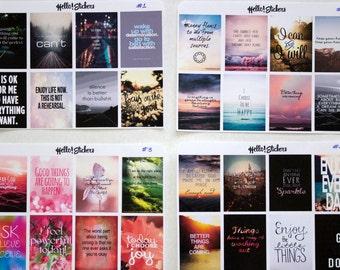 Full Box Stickers! Stickers for ECLP Erin Condren Planner, Motivational Stickers, Affirmation Stickers, Calendar Stickers, Positive Stickers