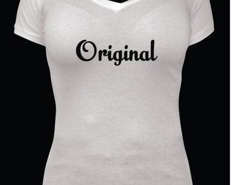 Womens,White Cotton,Black Glitter Writting,Cool Saying T-shirt,matching baby onsie not included