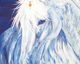 Warrior Princess Horse Print from Original Acrylic Painting