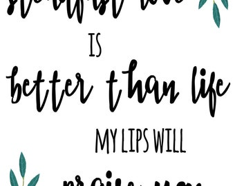 PRINT - Your Love is Better than Life