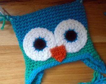 Owl Baby Shower Gift, Baby Hat, Crochet Animal Hat, Crochet Owl Hat, Owl Hat, Custom Crochet Hat, Babies' Winter Hat, Boy Hat, Girl Hat, Owl
