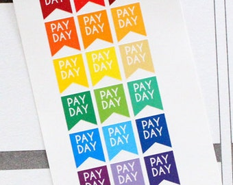 Planner Stickers Pay Day for Erin Condren, Happy Planner, Filofax, Scrapbooking