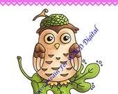 Acorn Owl DIGITAL STAMP Download - Carmen Medlin for SCACD