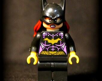 Custom Batgirl (Barbara Gordon) Mini Figure from DC Comics.  Lego Compatible.