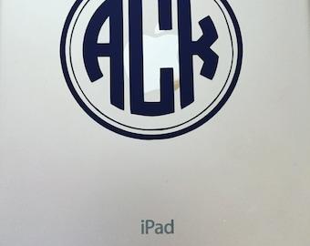 Monogram Phone/Laptop/Car/Planner/Tablet Sticker Decal