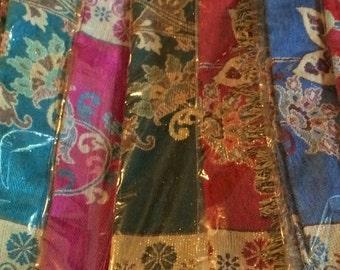 Women Silk Metallic Pashmina