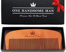 Premium Hair and Beard Comb - Perfect Gift for Him - Quality pear-wood with elegant gift box. Fast USA Shipping!