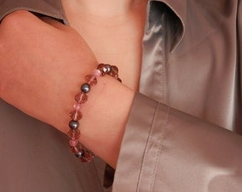 Black Pearl Bracelet, Mother of the Bride Gift Bracelet, Bracelet Stone, Romantic Wedding, Mother of the Groom Gift, BRE13