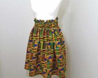 Kente print skirt