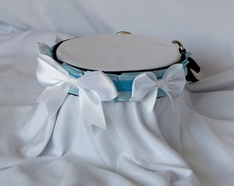 DISCOUNTED Blue and White Webbed Collar