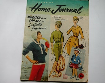 Australian Home Journal Magazine with free patterns - May 1961