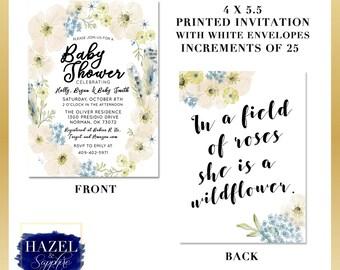 Floral Baby Shower Invitation (set of 25)