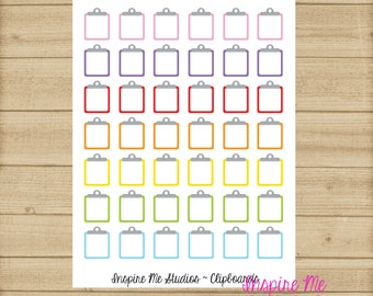 Clipboard Printable Planner Stickers / Planner Stickers / Life Planner / Happy Planner / DIY Printable Stickers / Clipboard / Functional