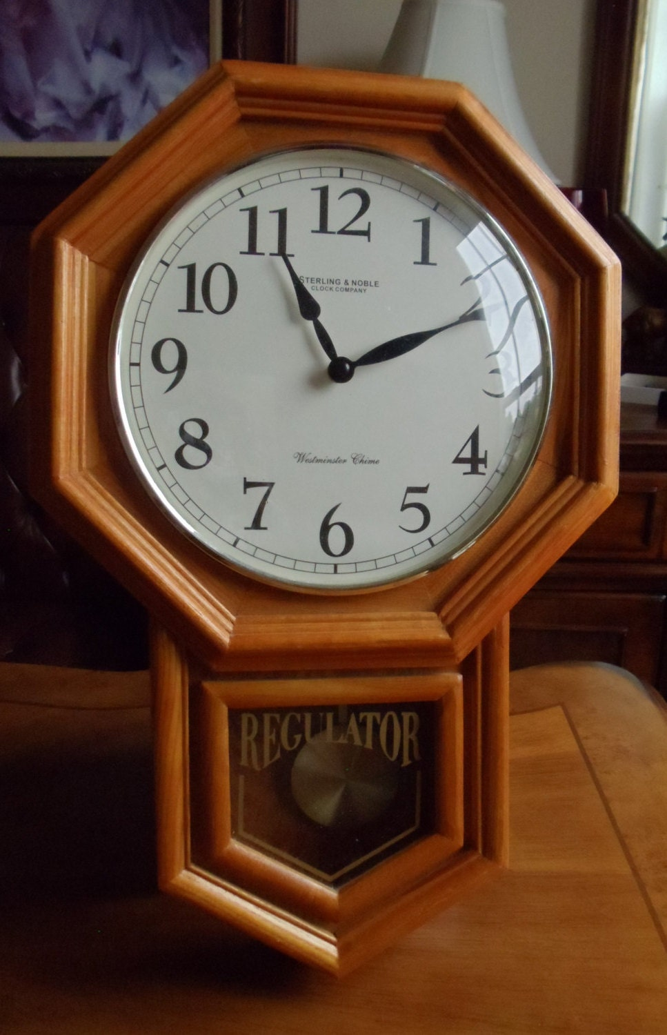 Vintage Large Wall Clock Sterling Amp Noble Clock Co
