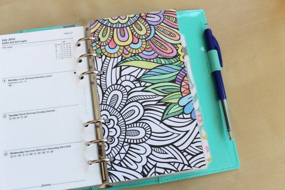 planner coloring pages set of 5 pages color your own planner two sided