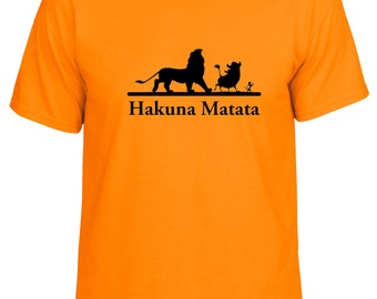 Disney Lion King inspired Hakuna Matata No Worries tshirt