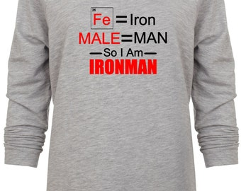 Female Iron Man Avengers Inspired Marvel Scientific sweatshirt